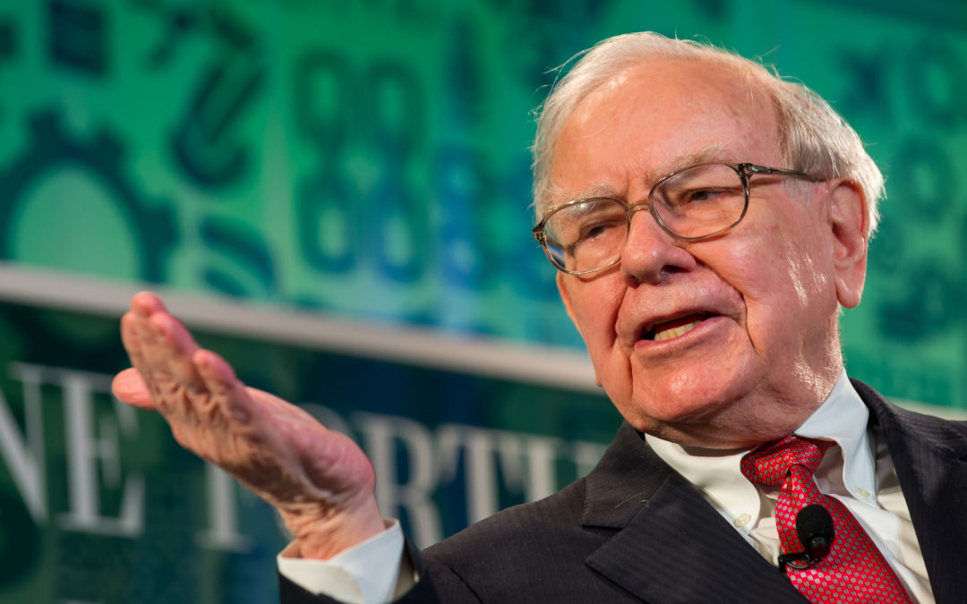 What does Warren Buffet have to say about sudden market drops?