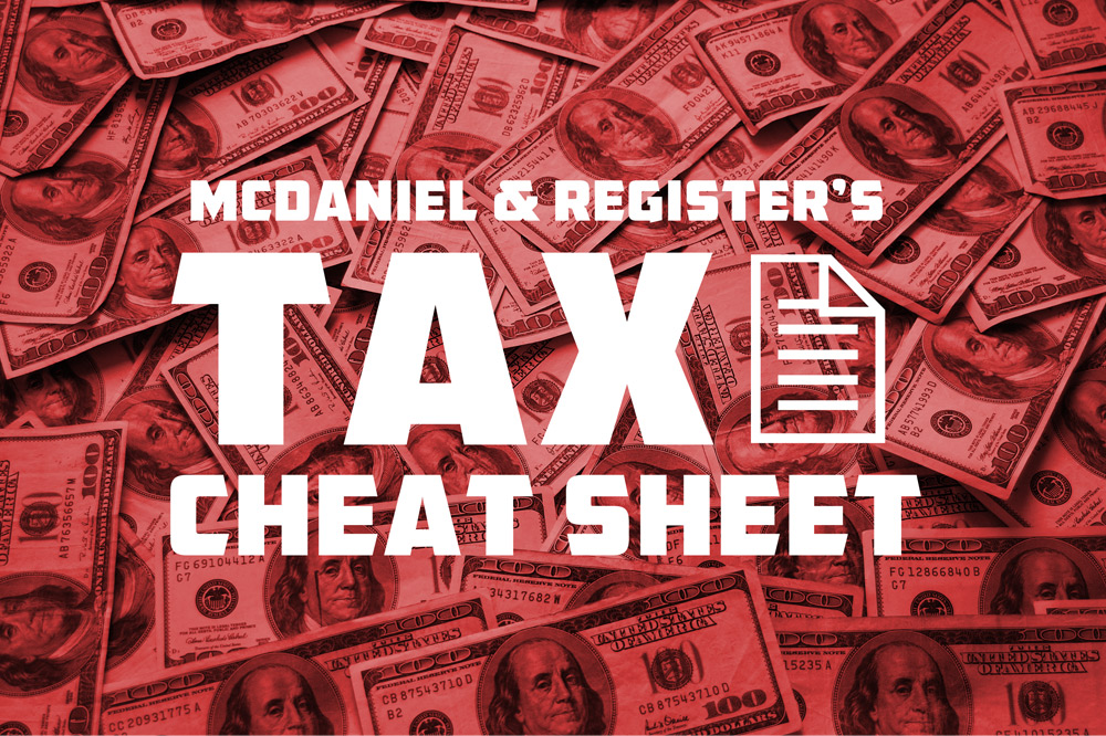 2016 Tax Rates and Contribution Limits